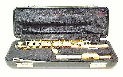 Armstrong 210 Piccolo Flute Sterling Silver 24K Gold Plated Lip & Keys Hard Case