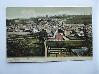 LANGHOLM, DUMFRIESSHIRE - LANGHOLM  FROM STUBHOLM  EARLY 1900s