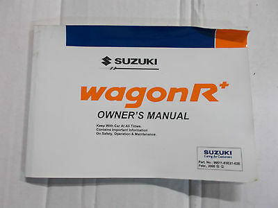 Suzuki Wagon R Mpv Models 2000 - 2008 Owners Manual / Hand Book