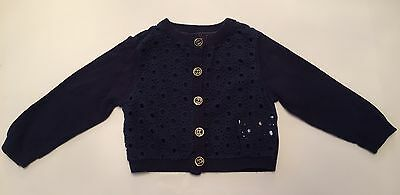 Mothercare Baby Girl's Navy Blue Cardigan ( Size : 3 - 6 Months )