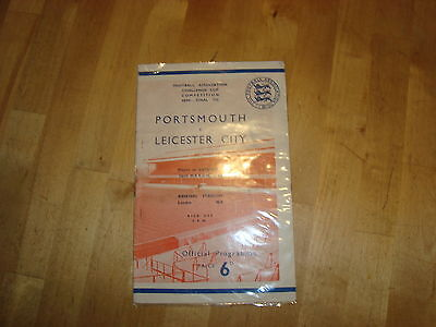 Portsmouth v Leicester Mar 1949 FA Cup Semi Final + Press report