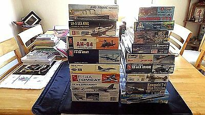 Model Kits Mixed Lot 17 Aircraft Helicopters Ships
