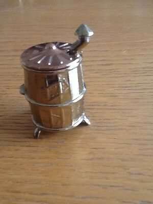 Vintage Brass Miniature Barrel With Removable Lid