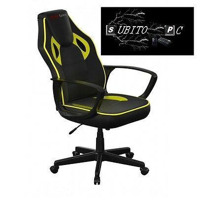 Mars Gaming Gaming Chair Sedia Gaming colorazione Deep Black and Yellow MGC0BY