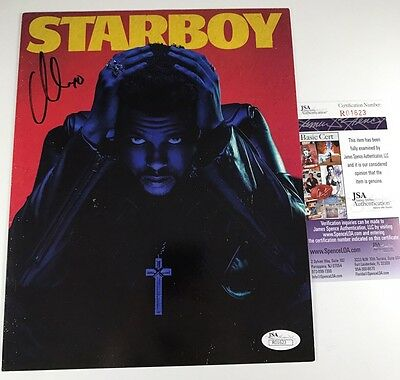 THE WEEKND signed 8x10 Promo POSTER Photo XO STARBOY Star Boy JSA Authenticated