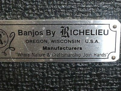 Banjos by Richelieu Rigid Open Back Banjo Case Red Lining