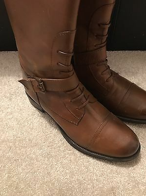 Ravel Brown Knee High Boots Size 4