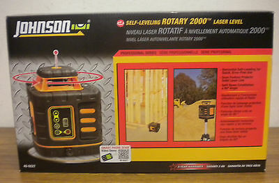 (79805) Johnson 40-6527 Self-leveling Rotary 2000 Laser Level (New in box)