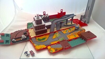 Micro Machines Hasbro Fire Engine Truck Fold Out City Play Set and Cars Bundle