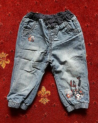 Mothercare baby girl jeans / trousers  6-9 months