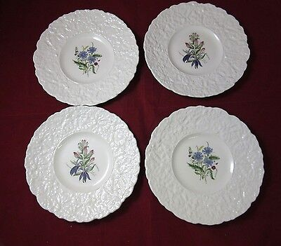 Set of 4 Royal Cauldon Bristol Ironstone plates, Woodstock collection, flowers.
