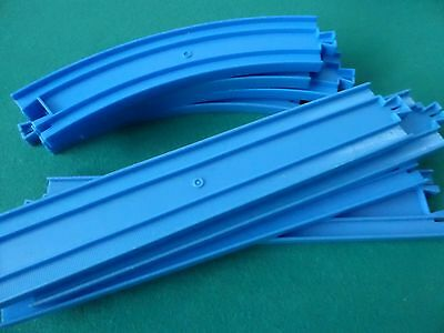 8 Train Tracks, Straights and Curves, Type: Tomy blue addition to existing set