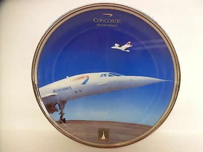 """Concorde Limited Edition Davenport Plate """"SUPERSONIC EXCELLENCE"""" British Airways"""