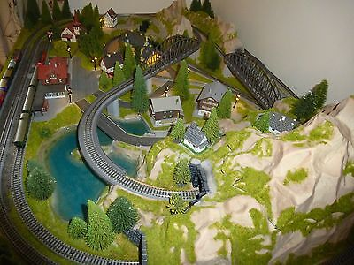 Rokuhan Noch 'cortina' Z Guage Layout Complete