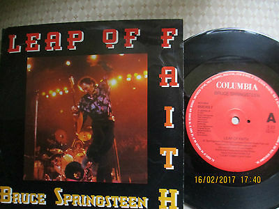 "Bruce Springsteen  Leap Of Faith 1992 7"" Vinyl Single A1/b1 1St Dutch Press Vg+"