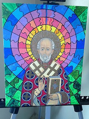 """Outsider Art """" St. Nicholas the Miracle Worker """" by Kevin the Great !!!!"""