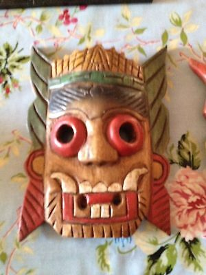 Asian Coloured Tribal Mask Purchased 25 Yrs Ago .