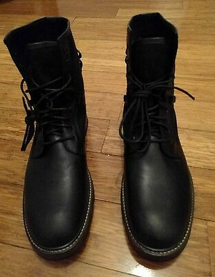 Mens' Brand New Asos Black Leather Boots Size UK 11