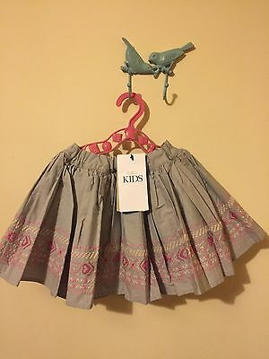 M&S Baby Girls Grey Party Skirt BNWT (18-24 Months)