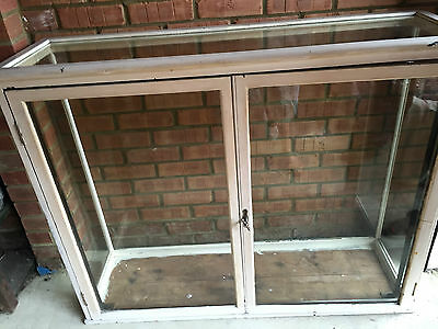 Antique Victorian Shop Display Cabinet Glass/Oak 1800's