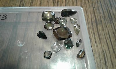 STUNNING!! 26.32 ct REAL LOOSE MOISSANITE  DIAMOND Mixed cut,Color,Size !!!14PCS