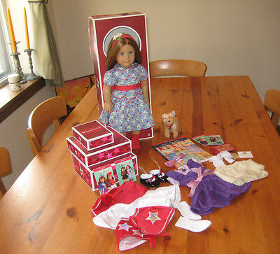American Girl Doll Emily Bennett Lot - Doll, Box, Clothes, Accesories, Dog