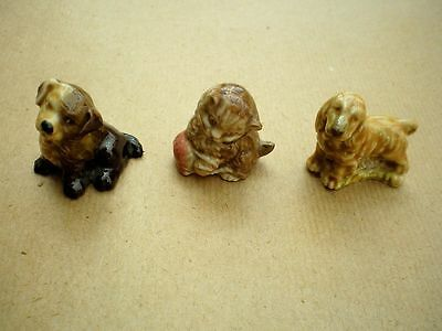 3  WADE WHIMSIES     Set 1  1971     Golden Spaniel, Mongrel Puppy and a Kitten
