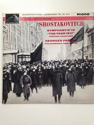 """Georges Pretre SHOSTAKOVITCH SYMPHONY NO 12 """"the Year 1917"""" LP"""