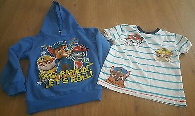 paw patrol blue Hoodie Hooded Sweatshirt and tshirt - 6-7 years