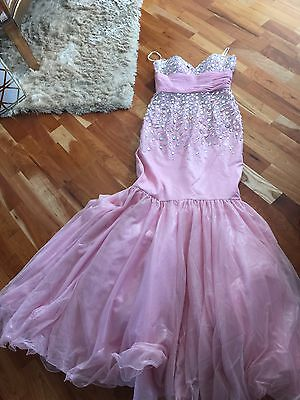 Jovani Pink Staples Prom Dress Size 4