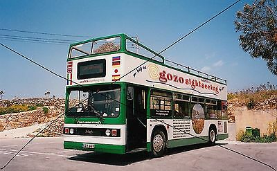 Bus Photo Of Malta Gozo Sightseeing Photograph Picture Leyland Titan Ex London