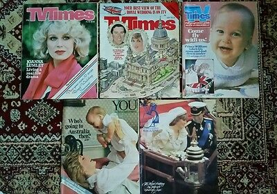 Princess Diana Wedding And William Birth in TV TIMES ,YOU , Sunday Express 81/82