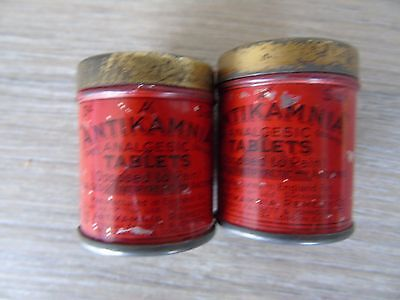 vintage Antikamnia tablet tins