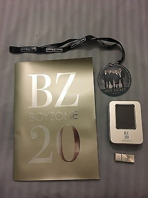 RARE COLLECTABLE Boyzone BZ20 Concert Tour USB, Lanyard And Collectors Book 2013