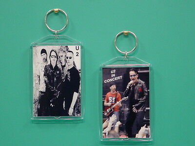 U2 - Bono - with 2 Photos - Designer Collectible GIFT Keychain 01