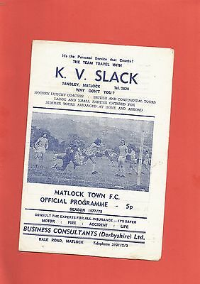 Matlock Town v South Liverpool 11th March 1978