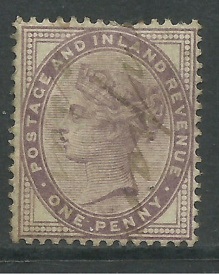 GB 1881 QV 1d Lilac used stamp. ( D854 )