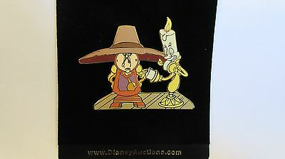 Disney Auction Lumiere & Cogsworth From Beauty And The Beast JUMBO Pin LE of 100