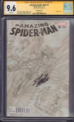 Amazing Spider-Man #1 Alex Ross Sketch Cover CGC...Signed by Stan Lee