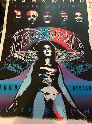 Hawkwind Silver Machine A4 Reprint Signed