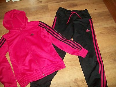 Adidas girls track suit age 9-10 years