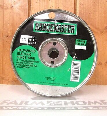 Galvanized Electric Fence Wire ~ 1/4 Mile ~ New ~ Free Shipping