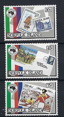 Norfolk Island 1984  344 - 346 Ausipex'84 Mnh Set 3 Stamps.