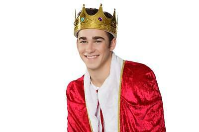 King Hat Regal King Crown Costume Showing Drama Movie Adults Queen's Prince