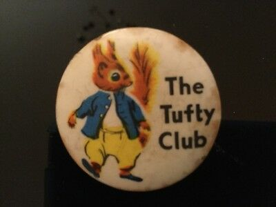 The Tufty Club Badge 1960s Vintage
