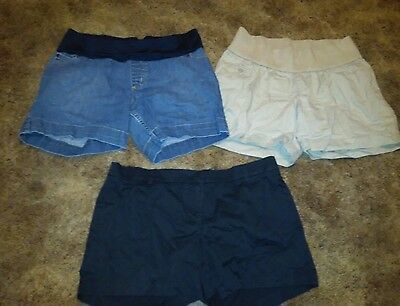 Lot Of 3 Marternity Shorts Size Small Liz Lange Pea In The Pod