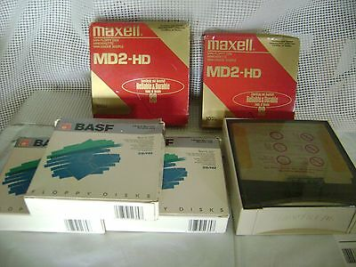 computer FLOPPY DISK disc 5.25 5 1/4 lot of 85 plus STORAGE BOX vintage