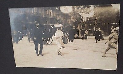 WWI RPPC Homeward from Market Beirut Syria 3/24/20 Real Photo Postcard Sailor's