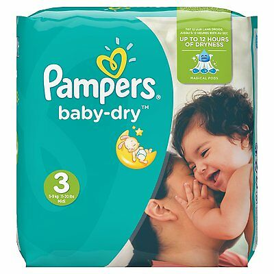 Pampers - Baby Dry - Couches - Pack économique 1 mois de consommation
