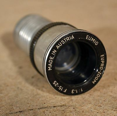 Eumig Eupro-Zoom  1:1.3 F15-25 Projector Lens for P8